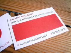 "Mes cartes de visite Moo ""De Luxe"" - Laurent Holdrinet"