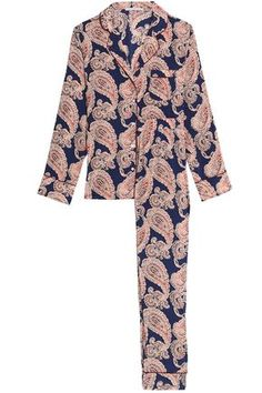 2616a750e0d9 Poppy Snoozing printed silk-blend pajama set