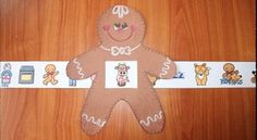 """Gingerbread Activities: Super-cute Gingerbread Man story """"slider"""". Quick, easy & fun way for students to sequence & retell the story."""