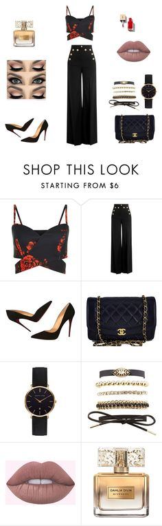 """""""Untitled #61"""" by princesabaixinha ❤ liked on Polyvore featuring RED Valentino, Christian Louboutin, Chanel, Abbott Lyon, Charlotte Russe and Givenchy"""