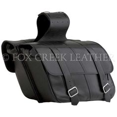 Large Slant Saddlebags | $444.00 | Fox Creek Leather Carries Only The Highest Quality, Made in USA Leather Motorcycle Jackets, Products, Clothing Leather Goods.