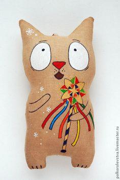 Ароматизированные куклы ручной работы. Ярмарка Мастеров - ручная работа Рождественский котик. Handmade.