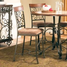 Steve Silver Company TP360CC Thompson Counter Height Chairs (Set of 2)