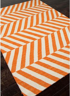 The Jaipur Maroc Salma Flat Weave Stripe Pattern Wool Handmade Rug is just the thing your home is missing. This beautiful rug is an easy way to bring. Orange Area Rug, Orange Rugs, White Area Rug, White Rug, Chevron Rugs, Stripe Rug, Jaipur Rugs, Dhurrie Rugs, New Energy