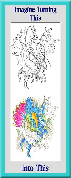 Coloring Book Etsy : Clear sharp outlines. this koi fish coloring book is $4.99 at etsy