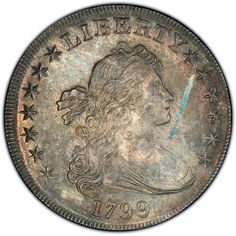 Obverse of 1799 Draped Bust Dollar