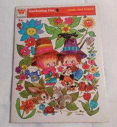 2 vintage 1974 tray PUZZLES Whitman Giordano by UncleJohnsBand