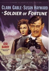 Soldier of Fortune //   Directed by	Edward Dmytryk  Produced by	Buddy Adler  Written by	Ernest K. Gann  Starring	Clark Gable  Susan Hayward  Michael Rennie  Music by	Hugo Friedhofer  Distributed by	20th Century Fox  Release date(s)	May 24, 1955
