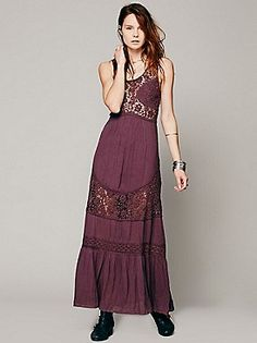 Free People Daydream Lace Pieced Maxi at Free People Clothing Boutique