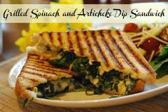 Grilled Spinach and Articoke Dip Sandwich