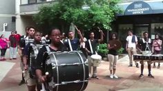 COLDSTEEL Drummers at Memorial Drive Party.-HD-