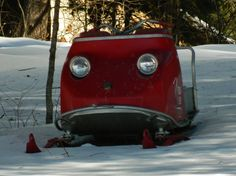 Old snowmobile face