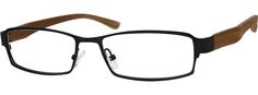 1462 Stainless Steel Full-Rim Frame with Flexible Plastic Temples