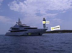#NamecheapSummer Obviously thought I'd pop in to see Abramavich's yacht whilst I had the chance off the coast of Hvar! ;)     Fixed for you @Namecheap.com - hopefully this is better? :D