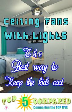 Check out the top 5 kids ceiling fans with lights that will keep temperatures at a comfortable level during those overly hot occassions Kids Ceiling Fans, Lights, Top, Lighting, Crop Shirt, Rope Lighting, Shirts, Candles, Lanterns