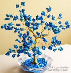 beaded wire tree | my new wire and beads and gemstones trees
