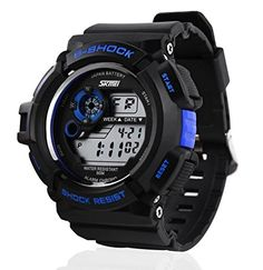 Relojes de Hombre Sport LED Digital Military Water Resistant Watch Digital Men De Hombre Para Caballero >>> You can get additional details at the image link.Note:It is affiliate link to Amazon. #stars