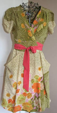 Love the vintage feel to Anthropologie dress.