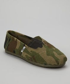 Green Camo Slip-On Shoe by Shoes of Soul on #zulily