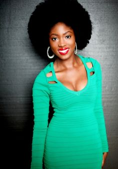 Perfectly picked fro. To learn how to grow your hair longer click here - http://blackhair.cc/1jSY2ux