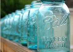 Vintage blue ball perfect mason jars fetch around $10-12 apiece. | 26 Common Thrift Store Finds You Can Flip To Make Money