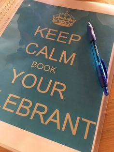 Keep Calm and book your celebrant!