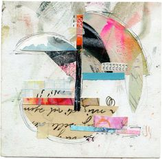 Wikmair Abstract Collage by artist Roben-Marie Smith. #robenmarie #robenmariesmith #collage #collageart #abstractart #abstractartist #collageartist #layeredlart #the100dayproject