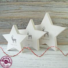 Find our decor ideas here: www.etsy.com/shop/Luciadesign White Christmas, Christmas Crafts, Christmas Decorations, Wood Stars, Improve Yourself, Make It Yourself, Garden Pictures, Woodworking Bench, Decoupage