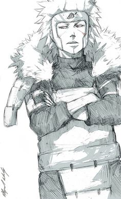 2nd Hokage I think this is the first time I post a picture of him... ^-^