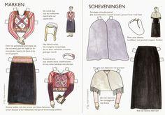 The Paper Collector: Dutch Regional Dress Paper Doll, c. Usa Culture, Dutch Women, Folk Clothing, Paper Dolls Printable, Vintage Paper Dolls, Paper Toys, Doll Patterns, Pretty Woman, Paper Art