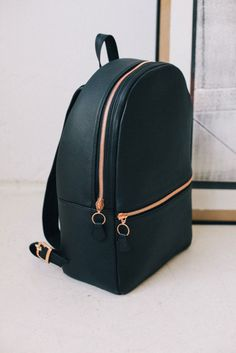 leather bag grunge gold holiday gift mens backpack bag backpack leather backpack leather hipster black zip back to school shoulder bag chic style fashion school bag My Bags, Purses And Bags, Fashion Bags, Fashion Backpack, Mens Fashion, Style Fashion, Fashion Killa, Fashion Beauty, Fashion Outfits