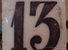 60  BONITO AZULEJO TRIANA SIGLO XVIII - PPIOS XIX NUMERO 13 (Antigüedades - Porcelanas y Cerámicas - Triana)