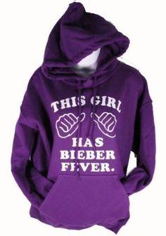 This Girl Has Bieber Fever Purple Hoodie Adult Sweatshirt
