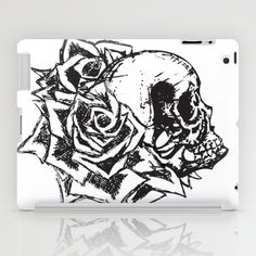 Skull & Roses iPad Case by Noelle Fontaine - $60.00