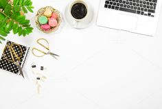 Flat lay Office desk workplace by LiliGraphie on @creativemarket