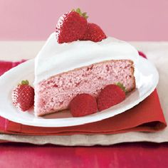 In dessert, duh. Try our favorite fruit dessert recipes. Sugar Free Desserts, Sugar Free Recipes, Just Desserts, Delicious Desserts, Party Desserts, Dessert Recipes, Fruit Dessert, Frosting Recipes, Pink Desserts