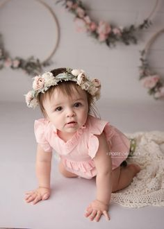 Items similar to Thea cream blush pink mini peony toddler child adult adjustable halo flower boho cake smash crown floral headband on Etsy First Birthday Photos, Girl First Birthday, 4th Birthday, Baby Girl Photos, Baby Pictures, Adorable Pictures, Cream Blush, Blush Pink, Boho Cake