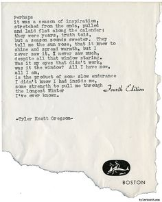 Typewriter Series #1914 by Tyler Knott Gregson Check out my Chasers of the Light Shop! chasersofthelight.com/shop
