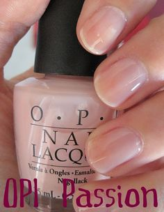 OPI passion - my current fave nude polish.