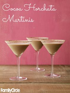 Cocoa Horchata Martinis #chocolate #valentinesday #desserts