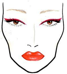 MAC V Festival Red Eyeliner Face Chart