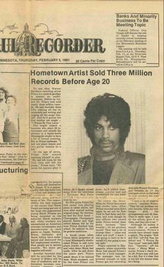 Prince newspaper clipping