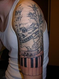musical tattoos   Design Moderne – Music Themed Tattoos Collection