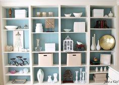 Ikea Billy Bookcase blue background