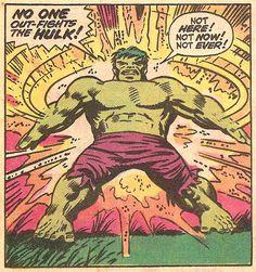 """No one out-fights the Hulk!"" - The Incredible Hulk by Herd Trimpe & Dan Adkins Comic Book Frames, Comic Books Art, Comic Art, Marvel Characters, Marvel Heroes, Marvel Comics, Jack Kirby, Hulk Movie, Planet Hulk"