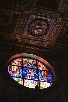 Stained Glass Church, Rome, Italy