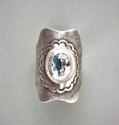 Unforgettably distinct one of a kind, handmade jewelry, inspired by nature's beauty. Artisan Jewelry, Handmade Jewelry, Saddle Ring, Statement Rings, Metal Jewelry, Precious Metals, Blue Topaz, Class Ring, Gemstone Rings
