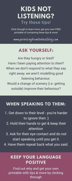 Kids not listening? Your kids will listen if you use these two strategies. Great positive parenting tips for parents with young kids, toddlers, and preschoolers.