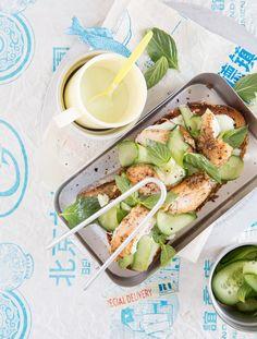 Thai-Salat-Stulle mit Hähnchenbrust