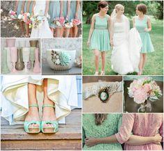 Mint Grün  Blush Pink Hochzeit | 2014 Hochzeitsfarben Inspiration | Optimale Karten für Verschiedene Anlässe